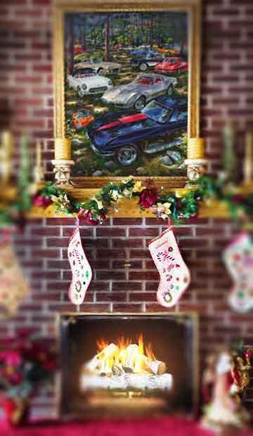 Michael Irvine automotive fine art Christmas.