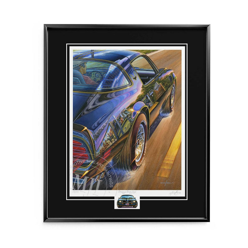 Framed Collector Edition Print—black metal frame, black conservation mat with v-groove & regular glass.
