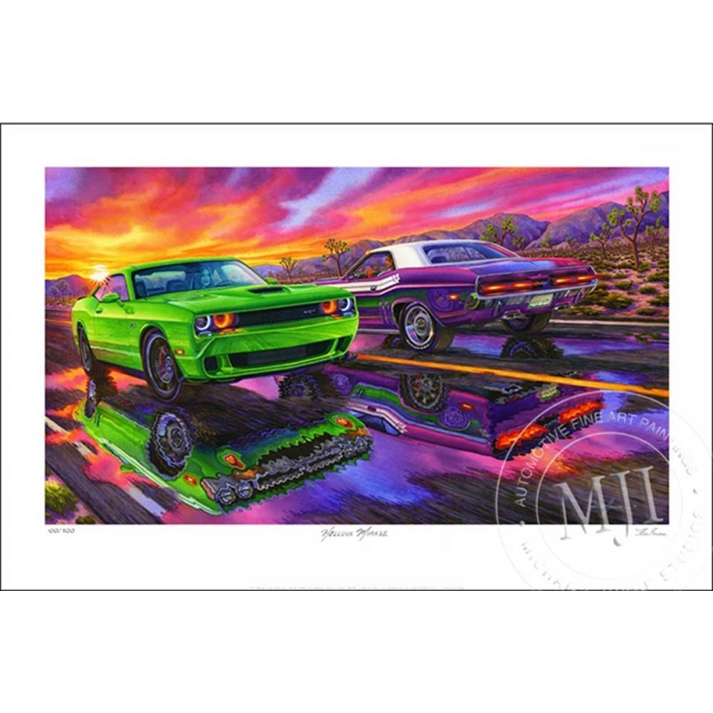 Limited Edition Print—signed/numbered by artist Michael Irvine.