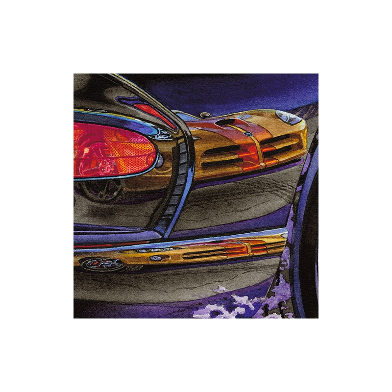 Details: 2010: Last Dodge Viper—gold with copper stripes.