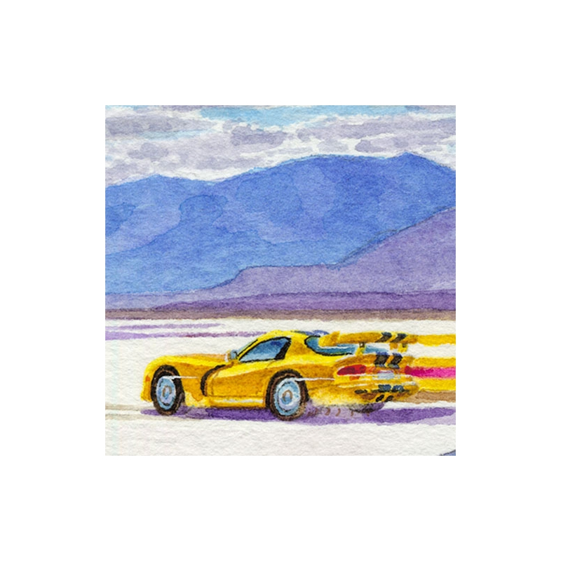 Details: Viper racing on the Bonneville Salt Flats.
