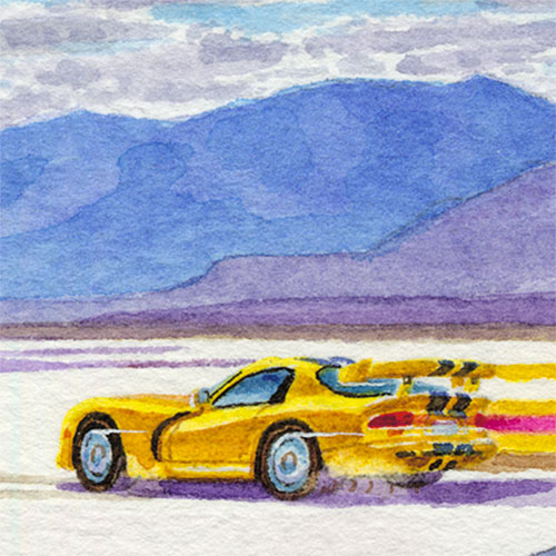 Details: Viper racing on the Bonneville Salt Flats.