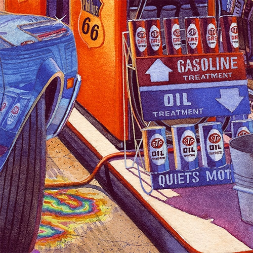 Details: Phillips 66 Gas Pumps and STP Gasoline Treatment.