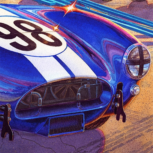 Details: Carroll Shelby's Cobra Competition 427's powerful engine requires extra cooling.