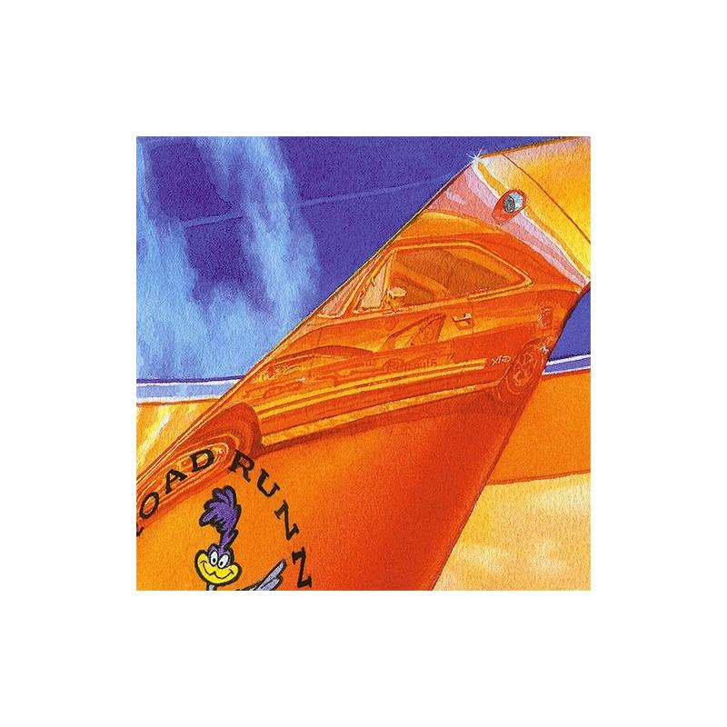 Details: Bird on a wing of this Hemi Orange Road Runner.