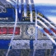 Detail: Icy reflection of the original 1968 Ford big block.