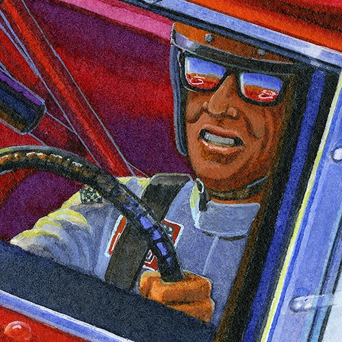 Details: Legendary driver Bobby Isaac piloting #71 Hemi powered Daytona at Bonneville Saltflats