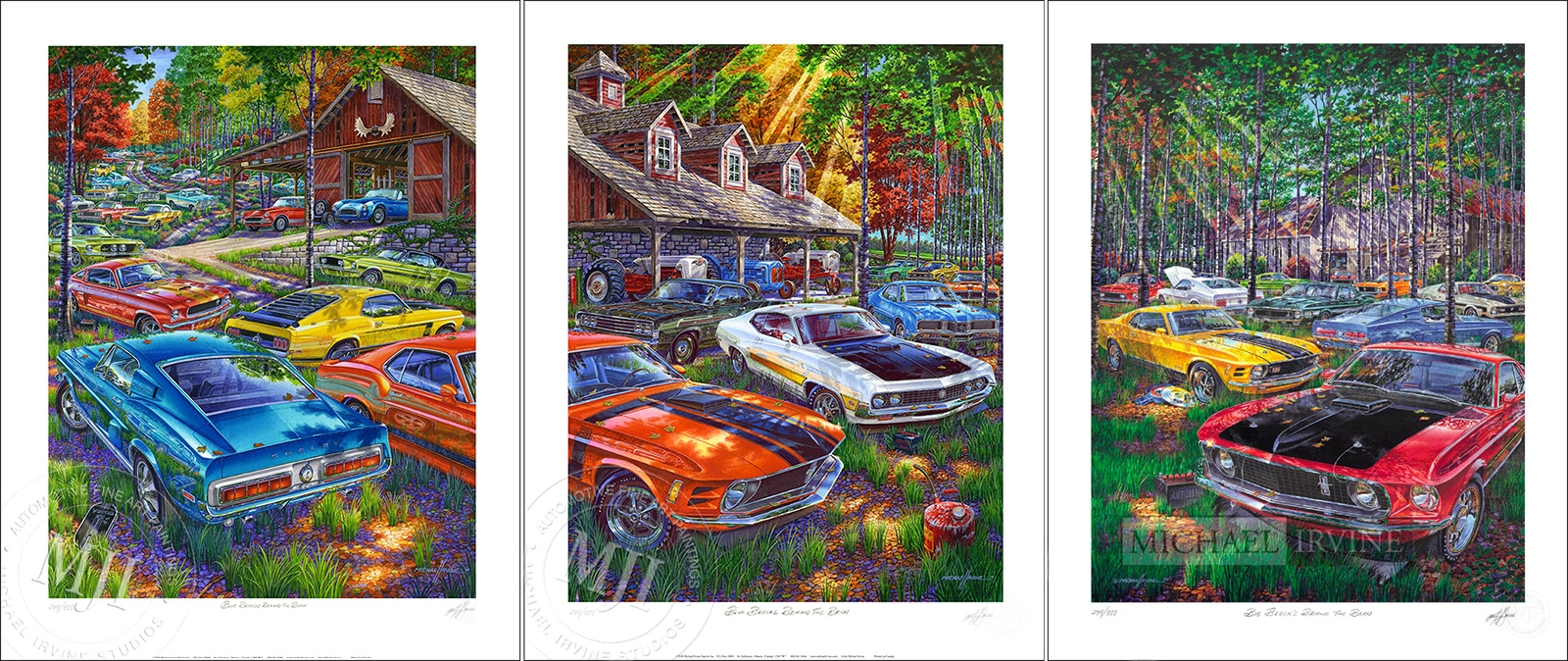 Set of Limited Edition Prints—signed/numbered by Artist Michael Irvine