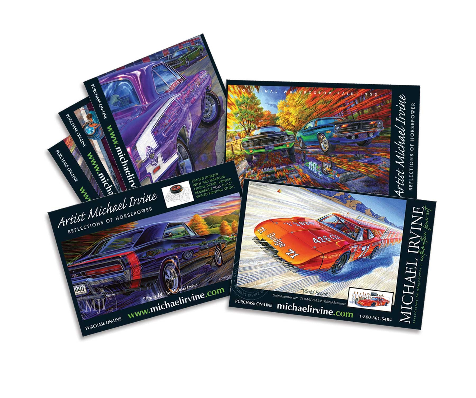 Assorted Mopar-themed Postcards (selection may vary depending on availability)