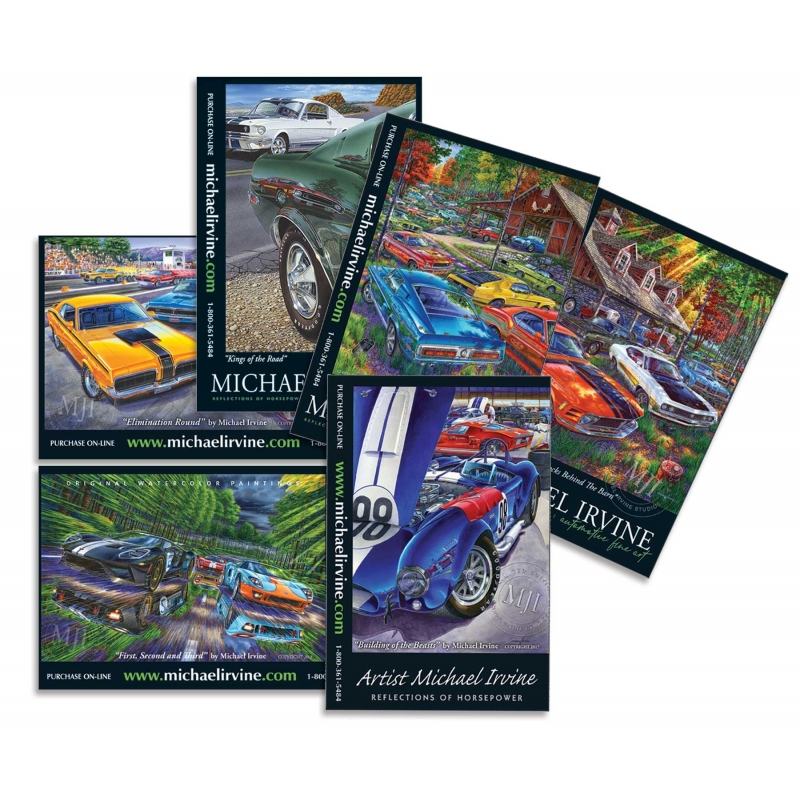 Assorted Ford/Mercury-themed Postcards (selection may vary depending on availability)