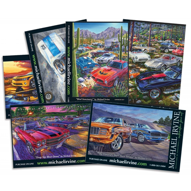 Assorted Chevy/GM-themed Postcards (selection may vary depending on availability)