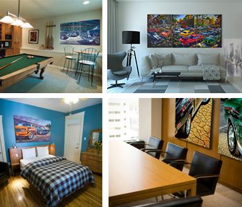 Car art canvas in home, living room, boardroom, bedroom, rec room