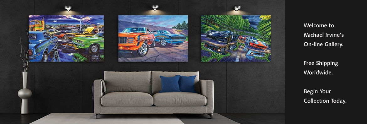Michael Irvine's amazing automotive fine car art.