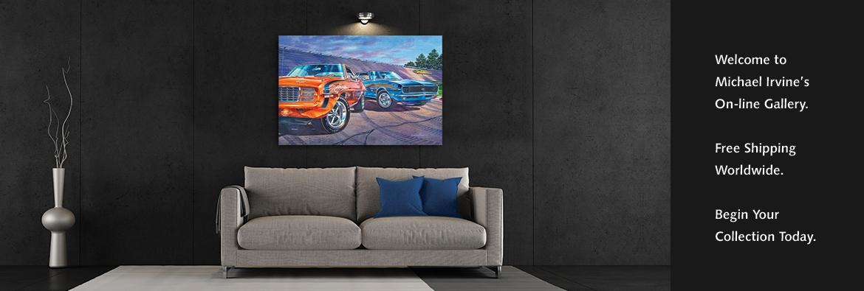 Automotive Fine Art by Michael Irvine.