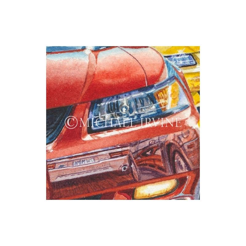 Details: Red Mach 1 reflects 'mach speed'.