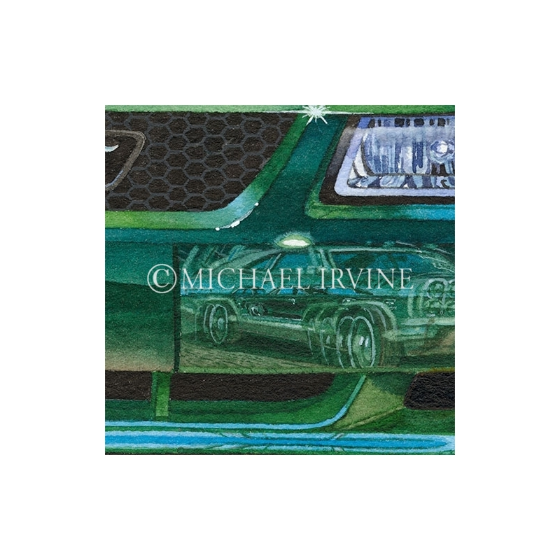Details: Reflections in the 2001 Bullitt Mustang.