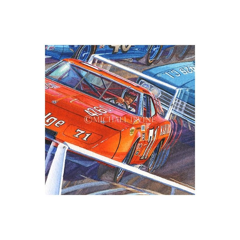 Details: Bobby Issac behind the wheel of the K&K Insurance Dodge Daytona.
