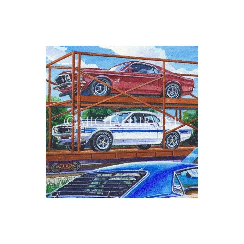Details: Shelbys along side the Boss Mustangs at the Kar Kraft Assembly Plant.