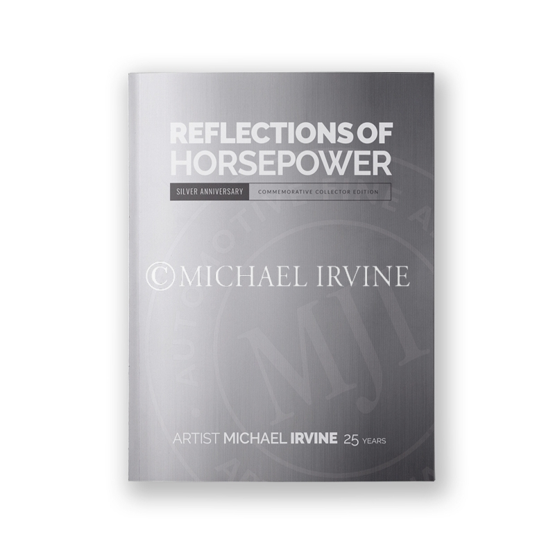 The softcover is blind embossed with Michael Irvine's Studio Seal.