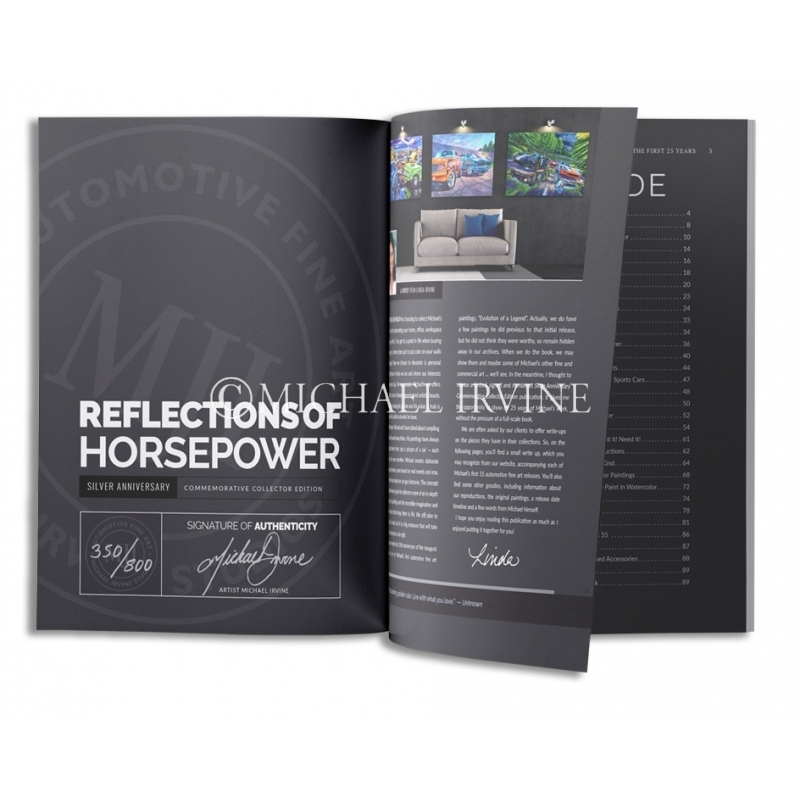 Each limited edition book is individually hand-signed & numbered by Michael Irvine himself.