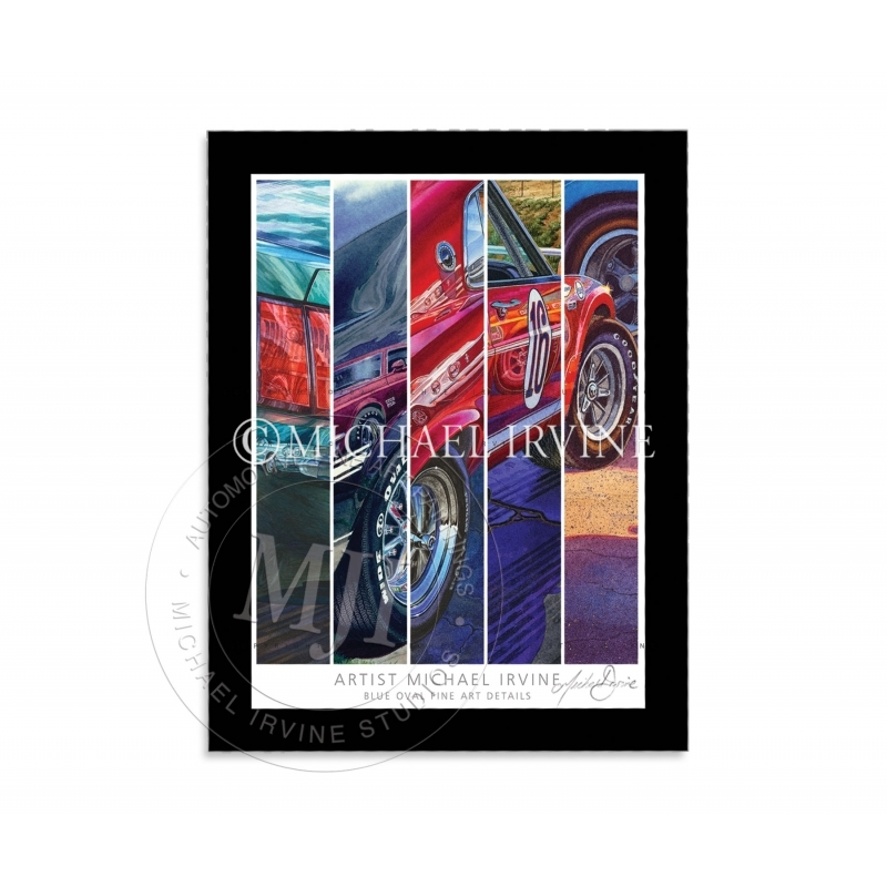 """""""BLUE OVAL FINE ART DETAILS"""" Signed Art Print with Mat (kit exclusive)"""